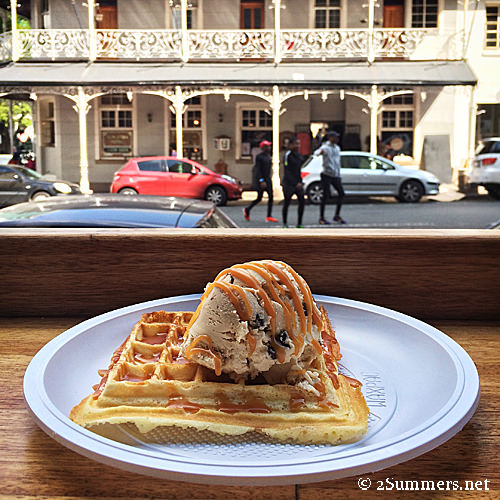 Waffle and choc-PB