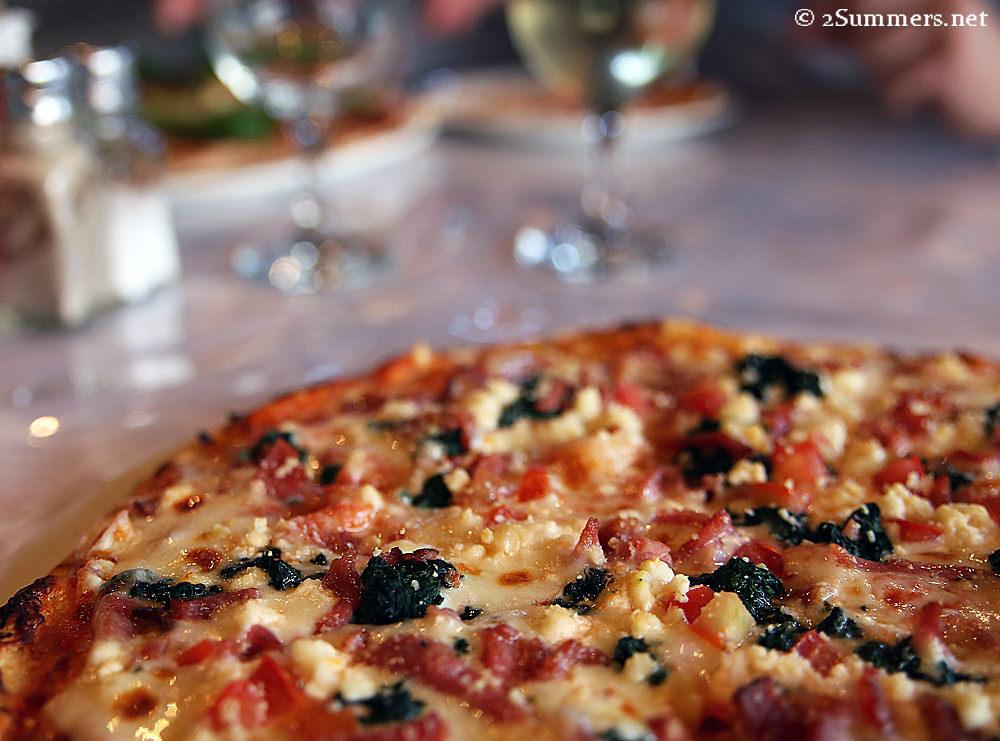 Picola pizza closeup