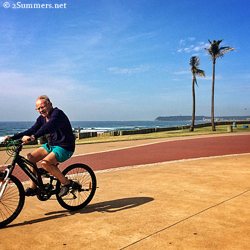 Biking Durban waterfront