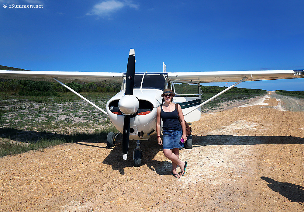 Heather and plane