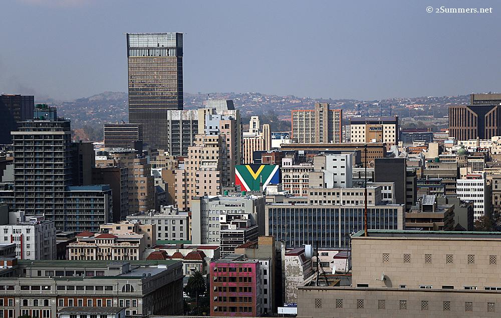 SA flag building