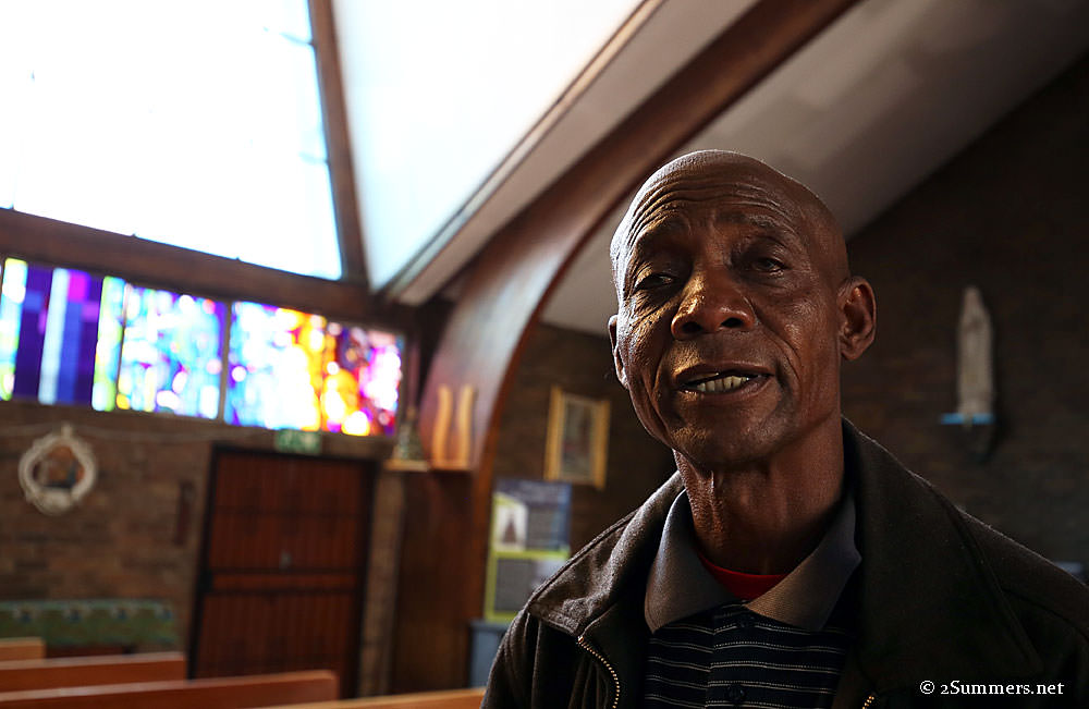 Tour guide at Regina Mundi Church in Soweto