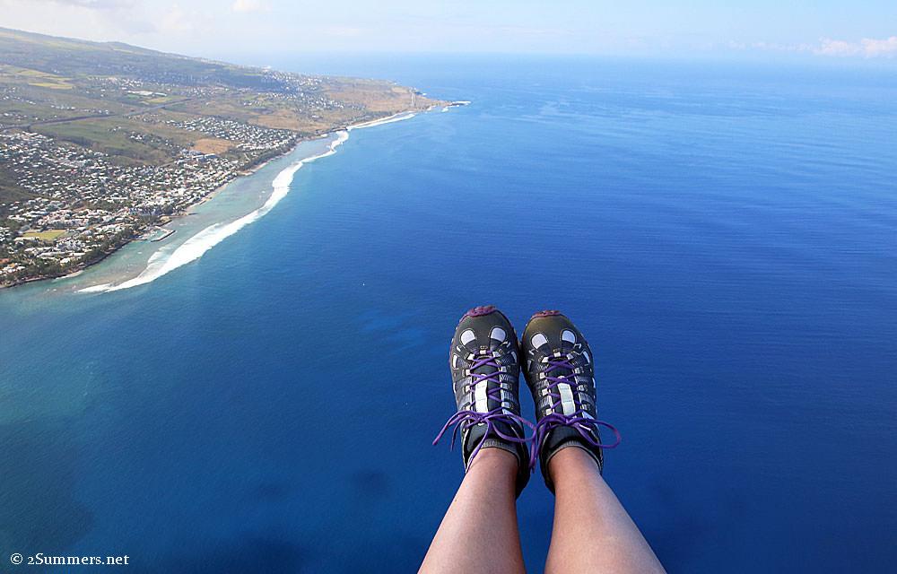 Paragliding-feet