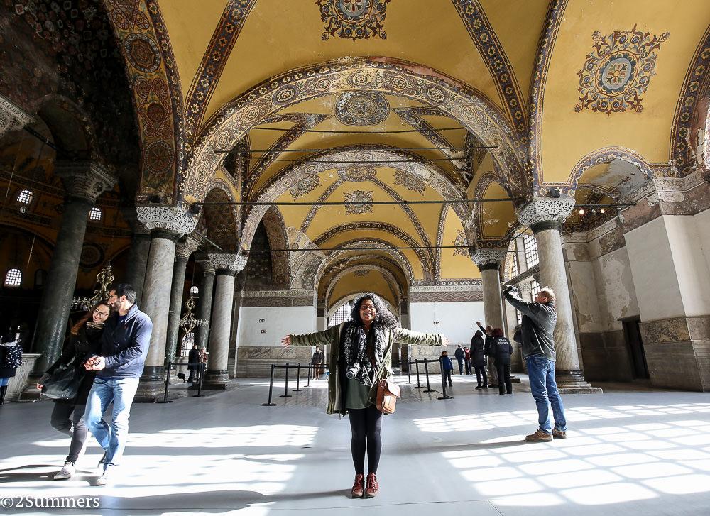 Meruschka in the Hagia Sophia