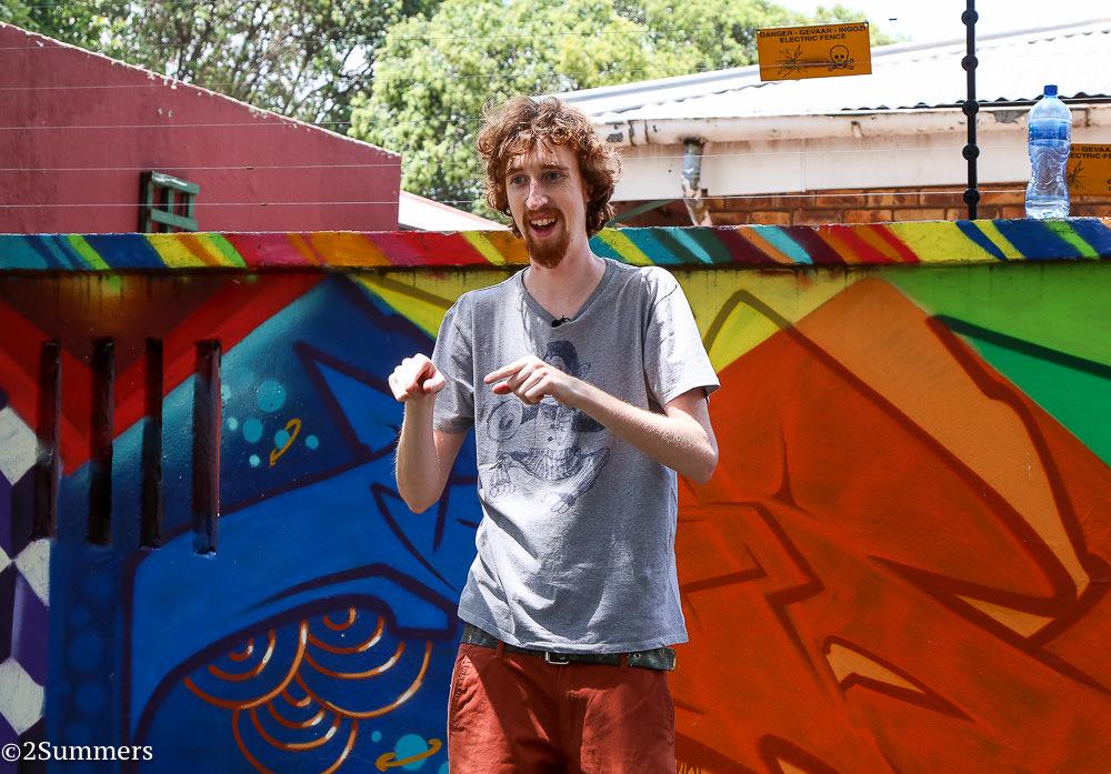 Westdene graffiti wall and Bias