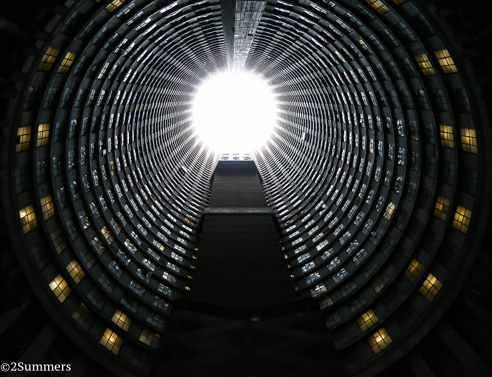 Inside the core of Ponte City