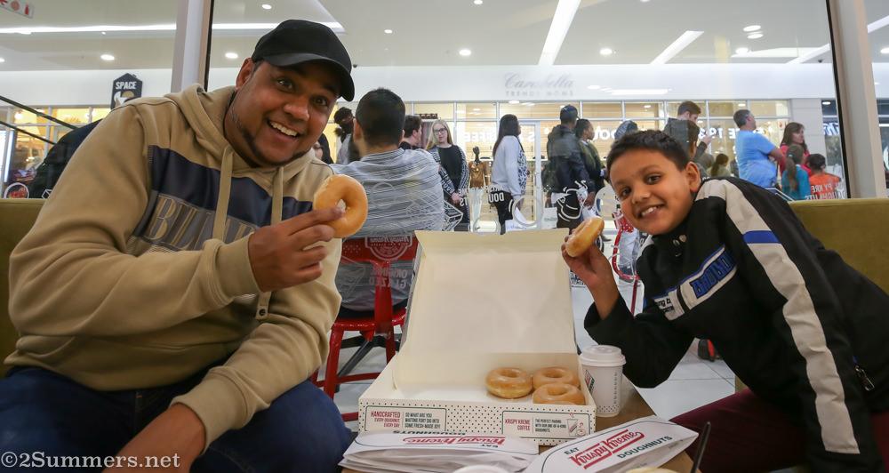 Allistair and Santiago at Krispy Kreme
