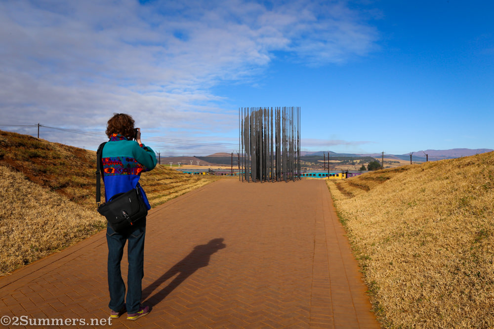 Ray and Nelson Mandela Capture Site sculpture
