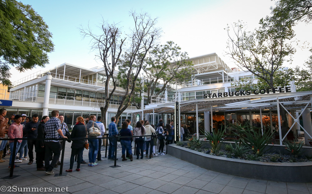 The outdoor line at Starbucks