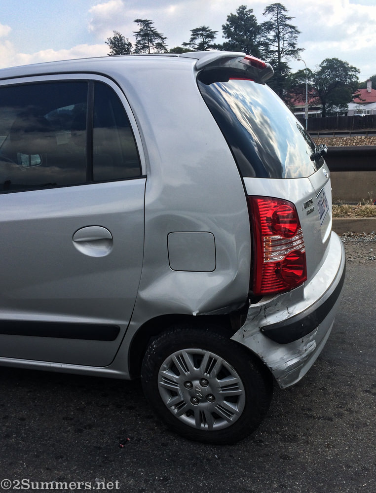 Hyundai Atos after car accident