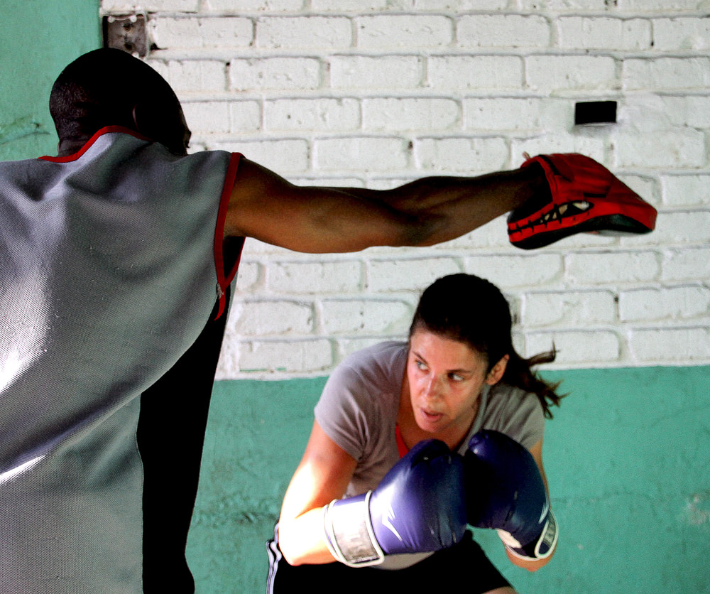 James and Heather at the Hillbrow Boxing Club
