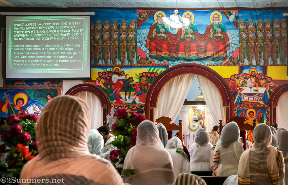 View from the back of the Ethiopian church
