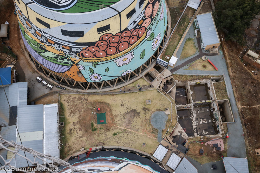 Looking down from the Orlando Towers