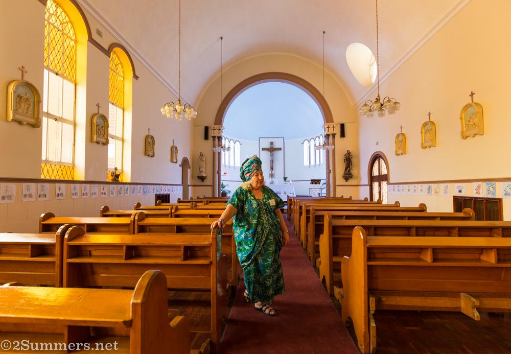 Flo Bird in Holy Family chapel
