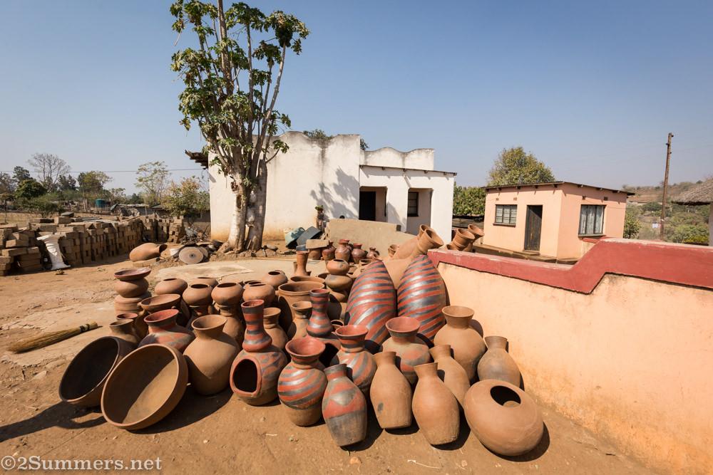 Outside Mukhondeni Village Pottery