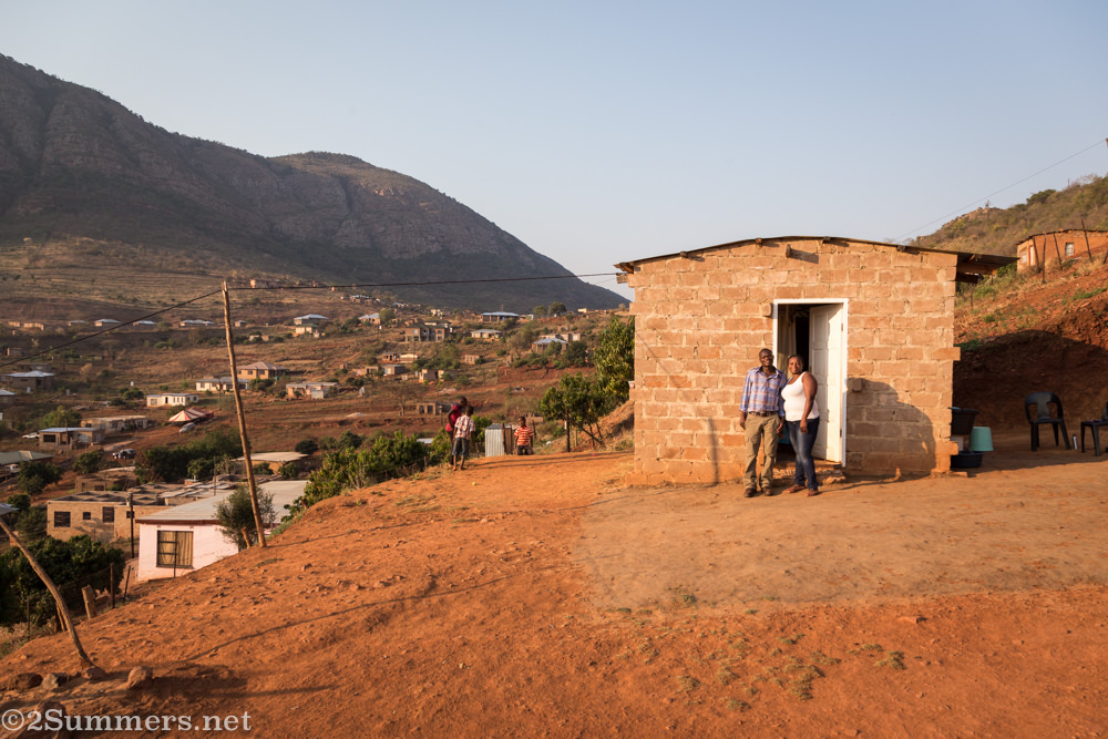 Lucky and Vhutshilo at their house