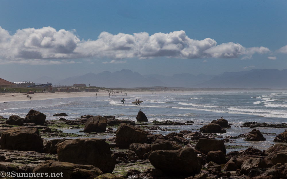 Surfers at Muizenberg