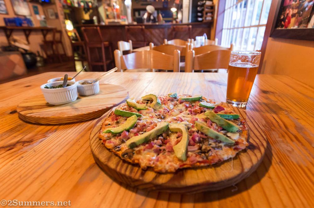 Pizza from the Pot & Plough in Haenertsburg