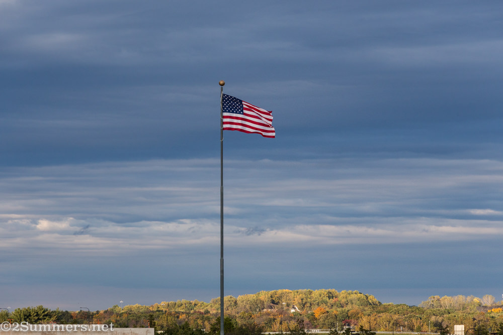 American flag at Dulles Airport