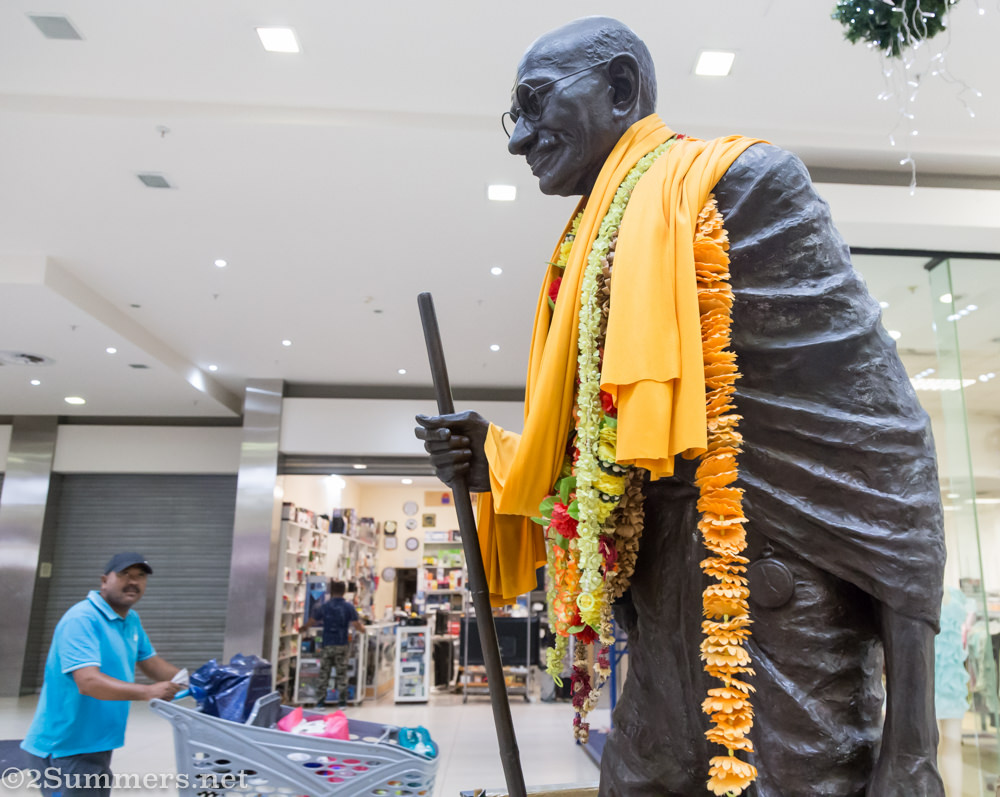 Gandhi in the mall