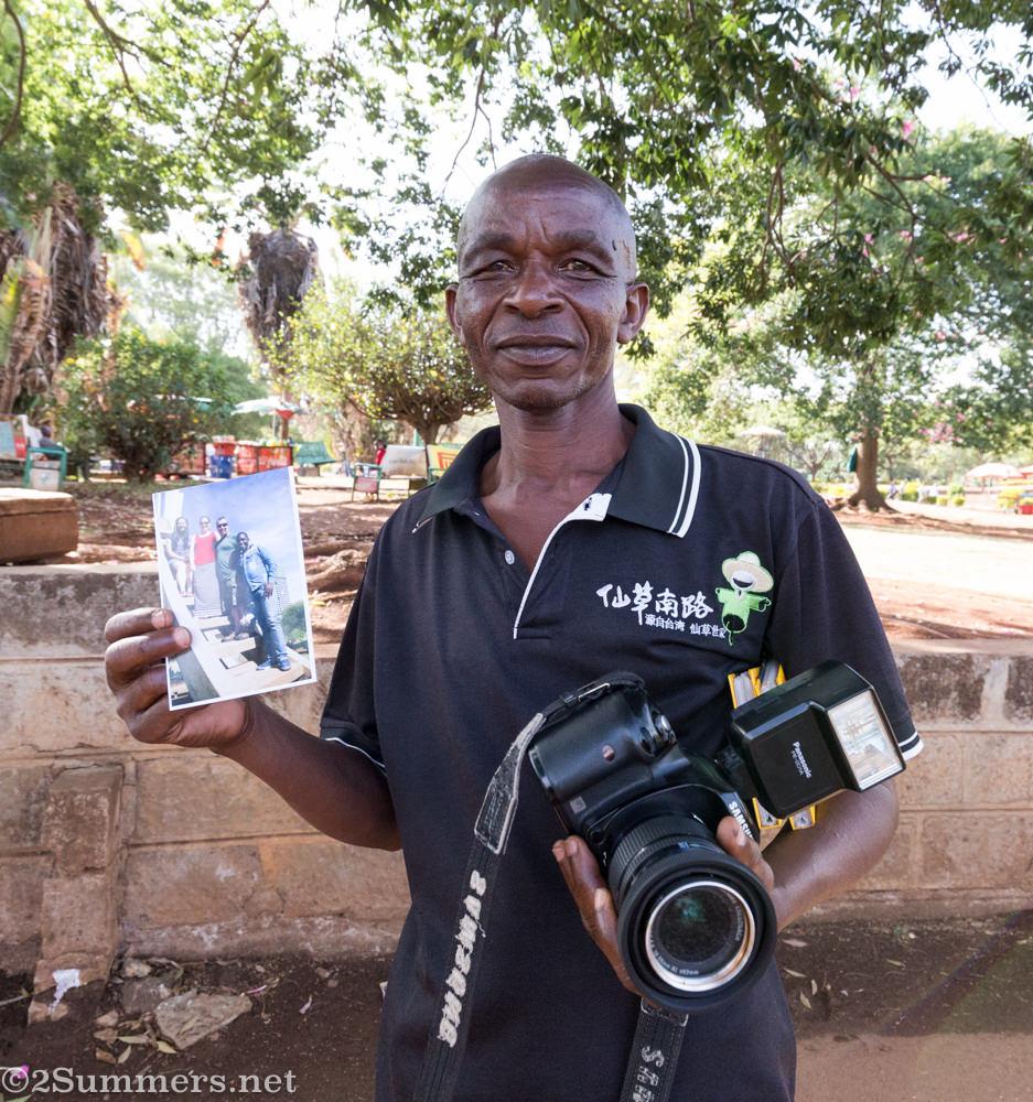 John the photographer at Uhuru Park