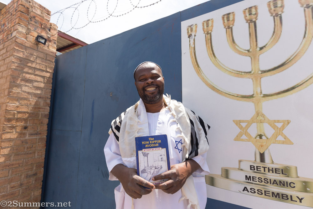 Rabbi Nathan outside Bethel Messianic Assembly
