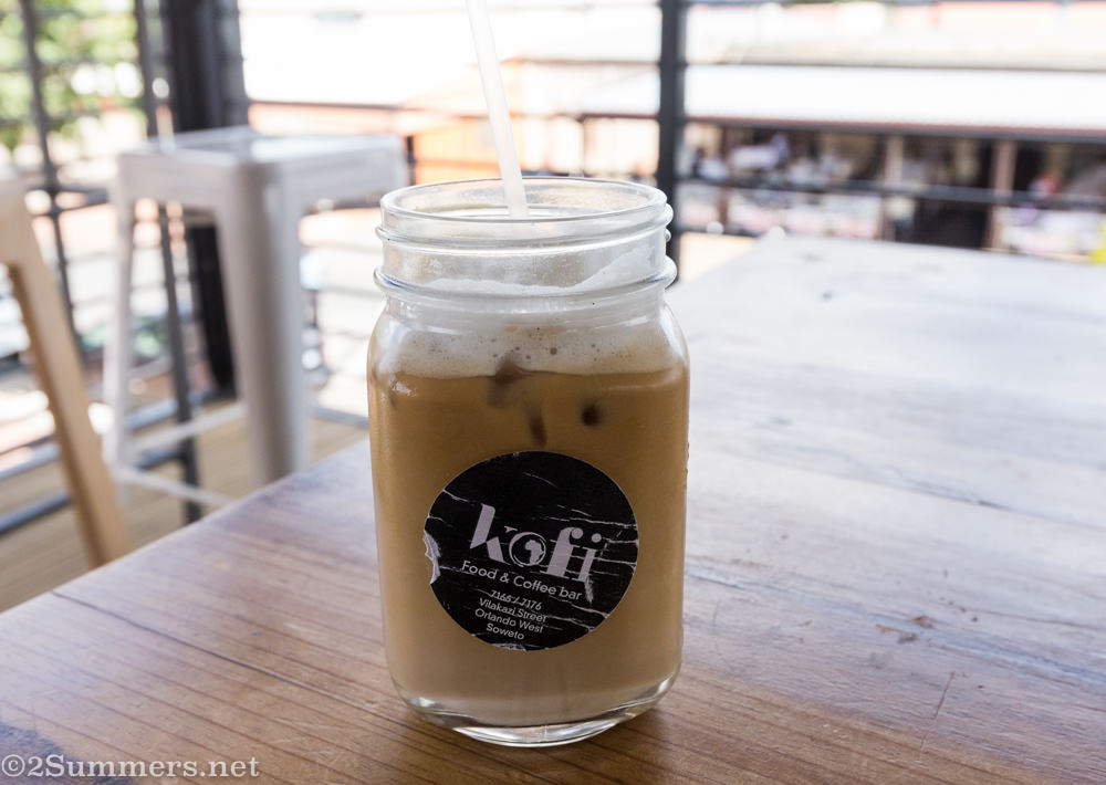 Iced coffee from Kofi Afrika