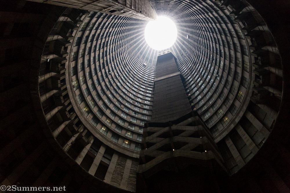 Ponte City core at an angle
