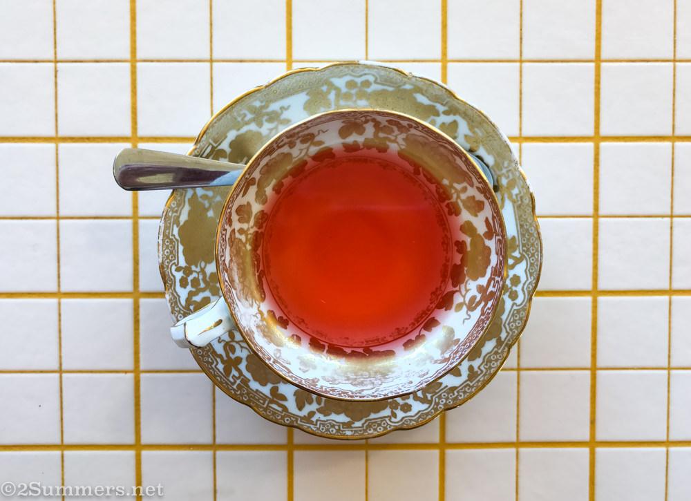 Hibiscus tea at Breezeblock in Brixton