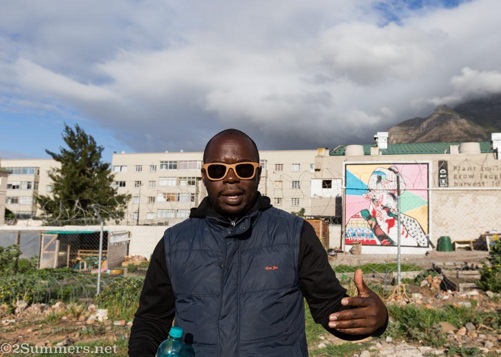 Juma on his street art tour