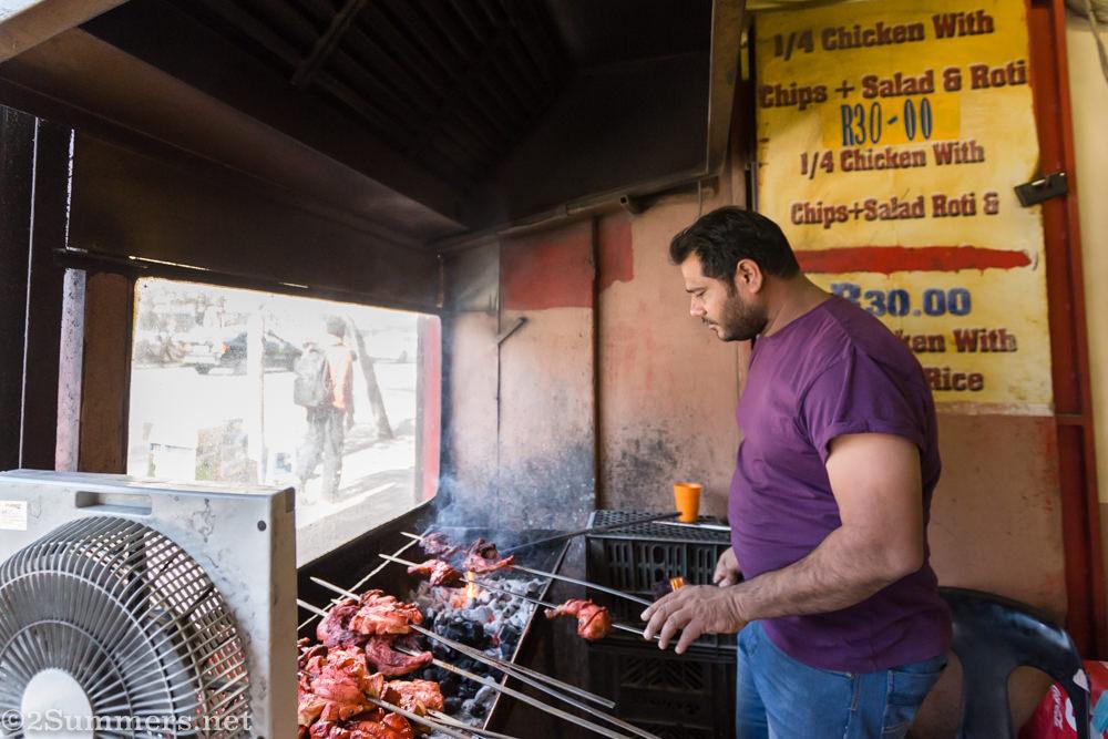 Cooking chicken at Food Junxion