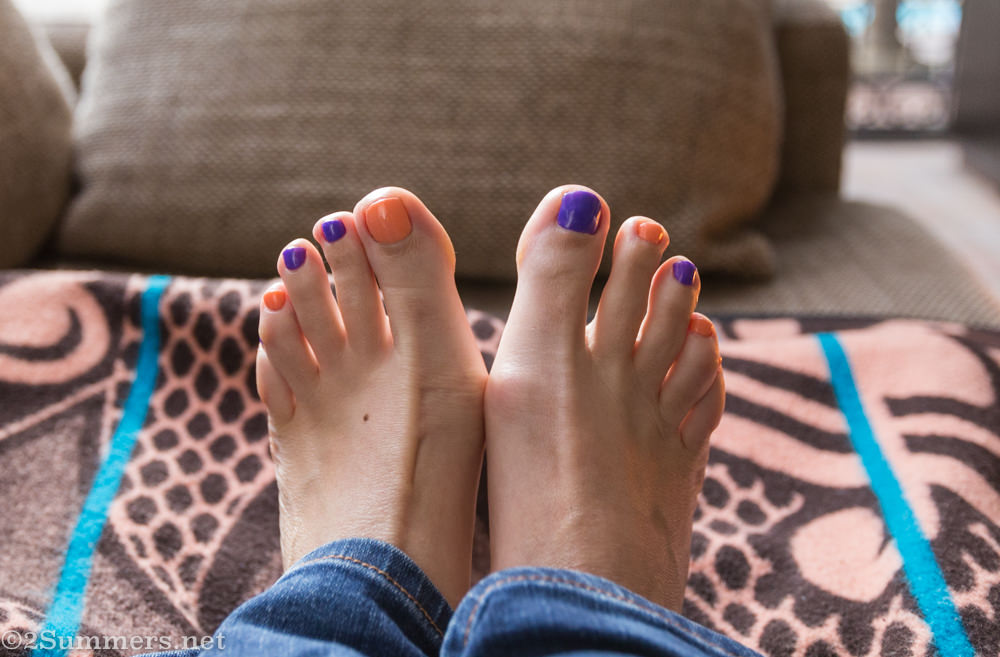 Heather pedicure