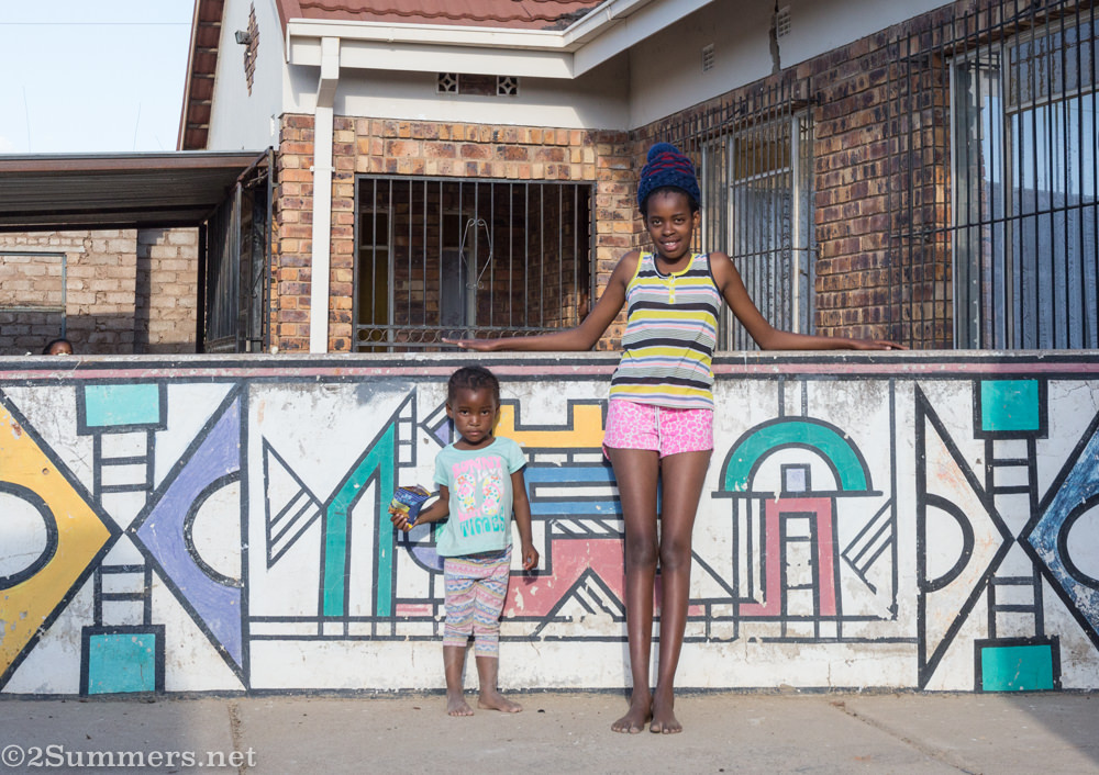 Painted Ndebele wall