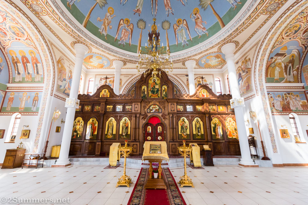 Inside St. Sergius Russian Orthodox Church