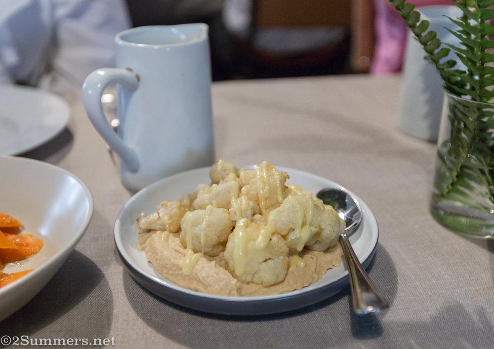 Cauliflower and hummus