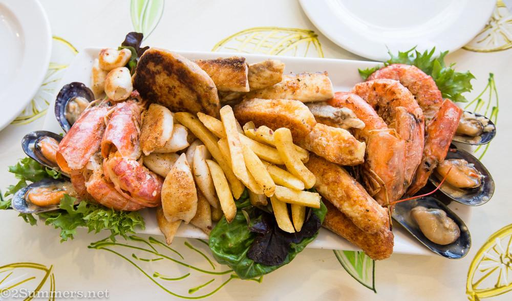 Seafood platter from La Marina