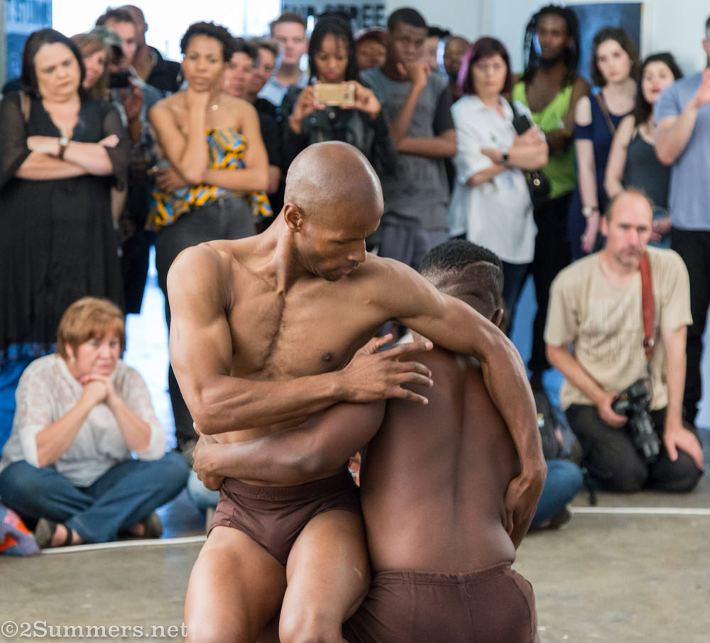 Dance performance by Oscar Buthelezi of Moving Into Dance