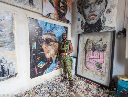 Olatunji Sanusi, artist at August House