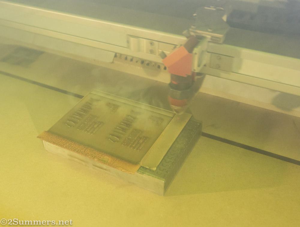 Laser cutter at ImPRESSed