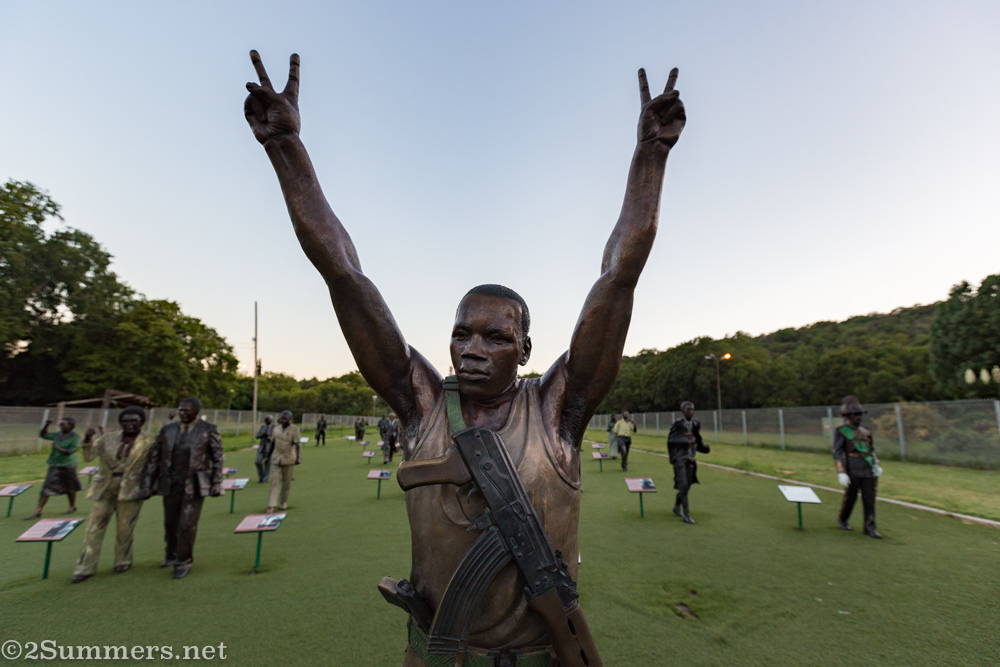 Solomon Mahlangu at the Long March to Freedom