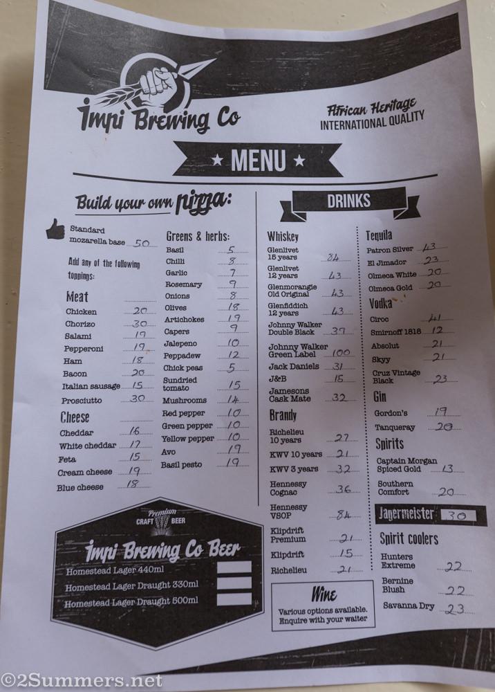 Impi menu