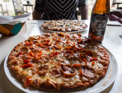Pizza and beer at Impi Brewing Company