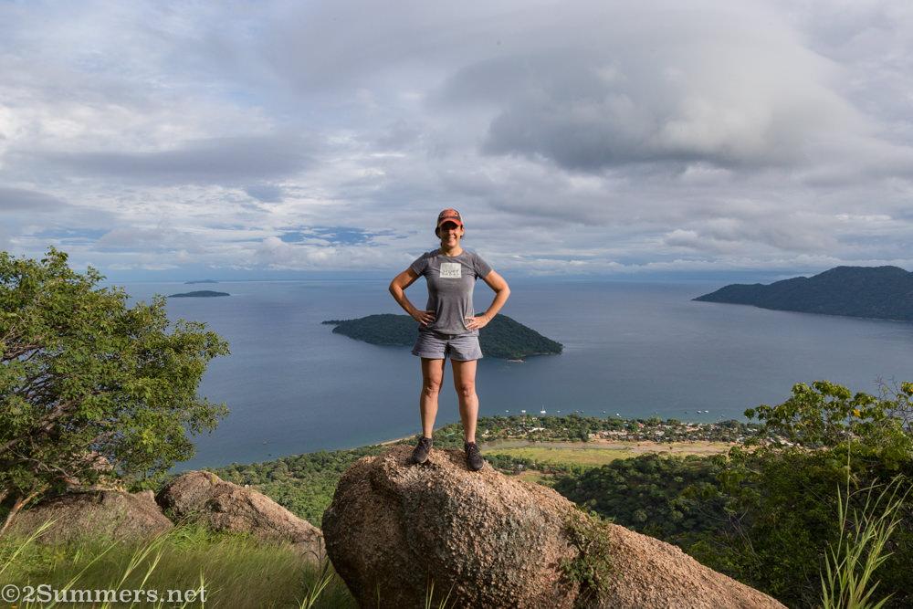 Hiking above Cape Maclear