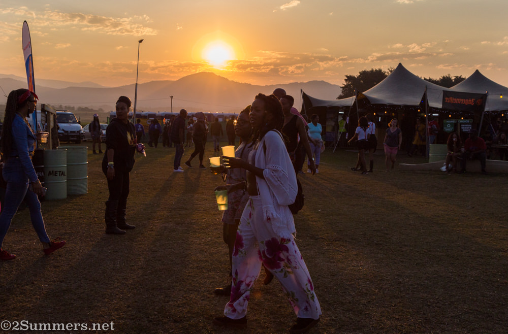Sunset at the Bushfire festival