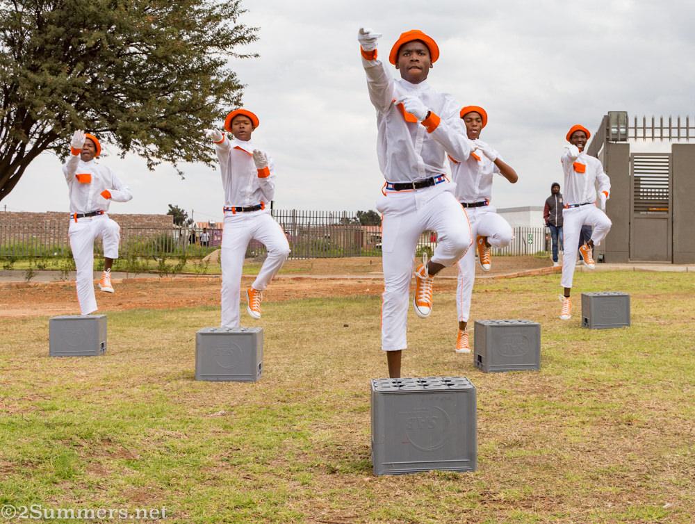 Pantsula dancers in Orange Farm