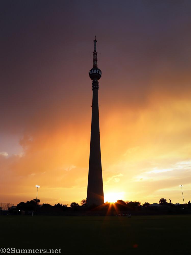 Sentech Tower at sunset