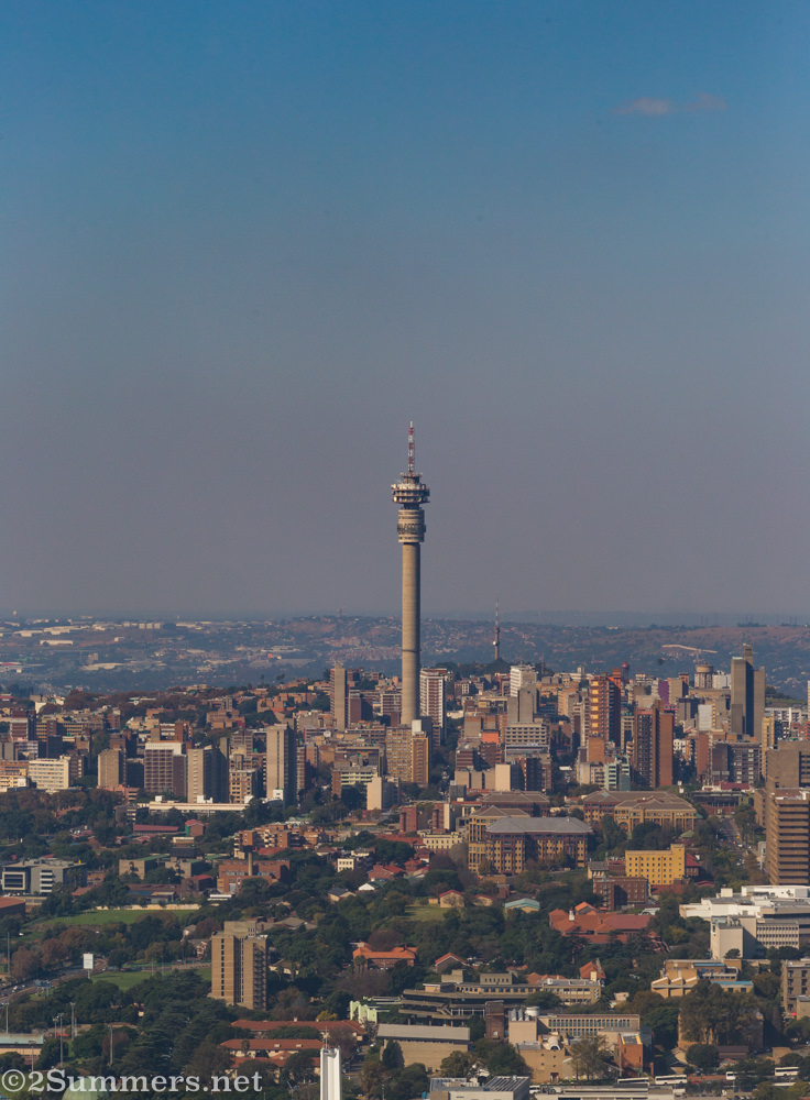 Hillbrow Tower from Sentech Tower