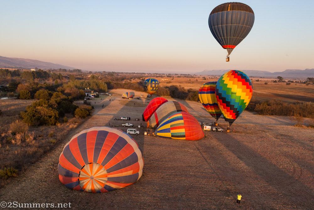 Balloons getting ready at Bill Harrop's