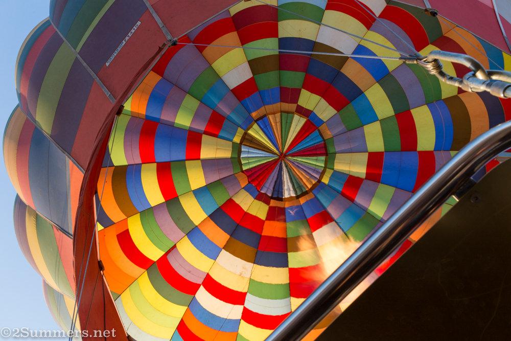 Inside of balloon