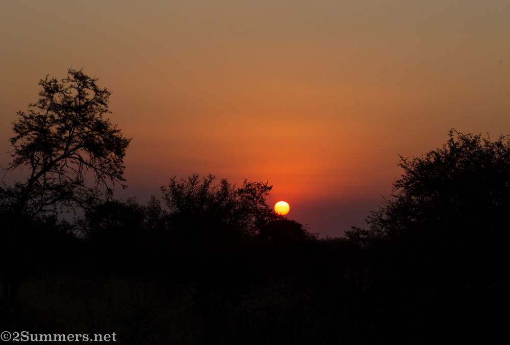 Sunset in Dinokeng